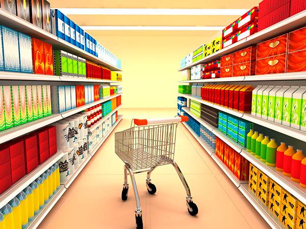 Estanterias livianas para gondola en supermercado